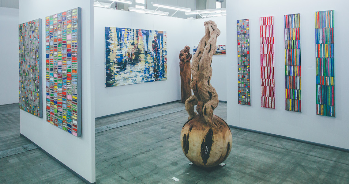 Gallery  Reitz from Cologne / Germany showing works by Petra Rös-Nickel and wooden sculptures by Zeljko Rusic