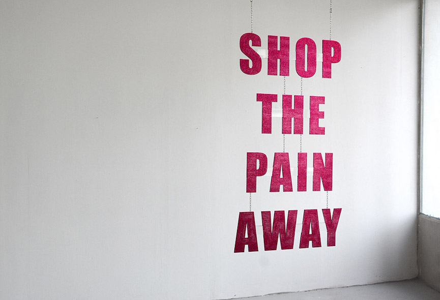 """Shop The Pain Away"" by Katharina Arndt, one of the emerging artists featured at Discovery Art Fair."