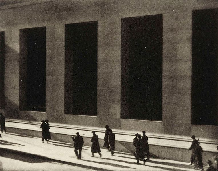 "Fine Art Photography of ""Wall Street"" by Paul Strand, 1915"