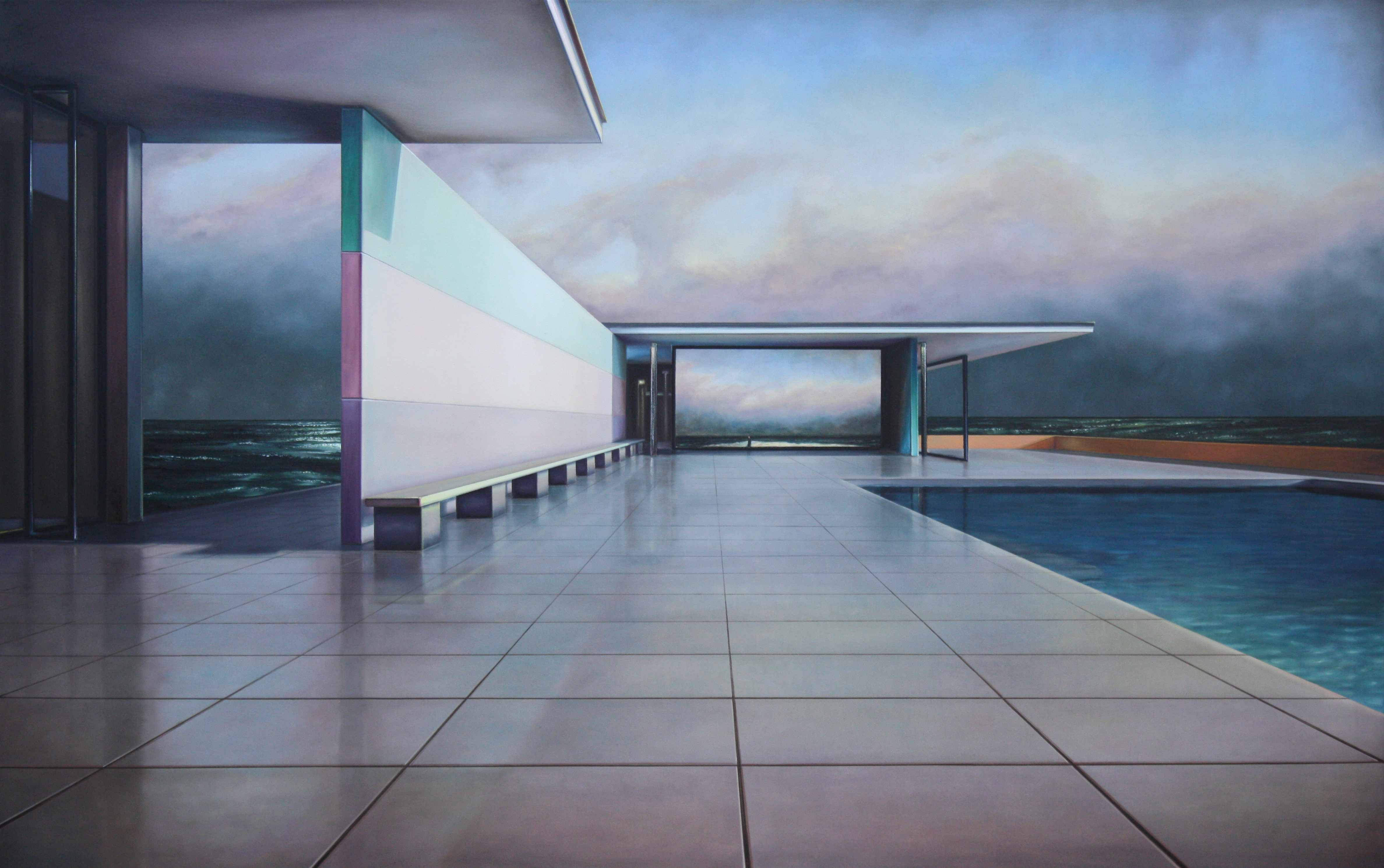 "Gallery Augarde is showing this oil on canvas by  Tobias Stutz – ""Pavillon (C.D. Friedrich)""- in Frankfurt"