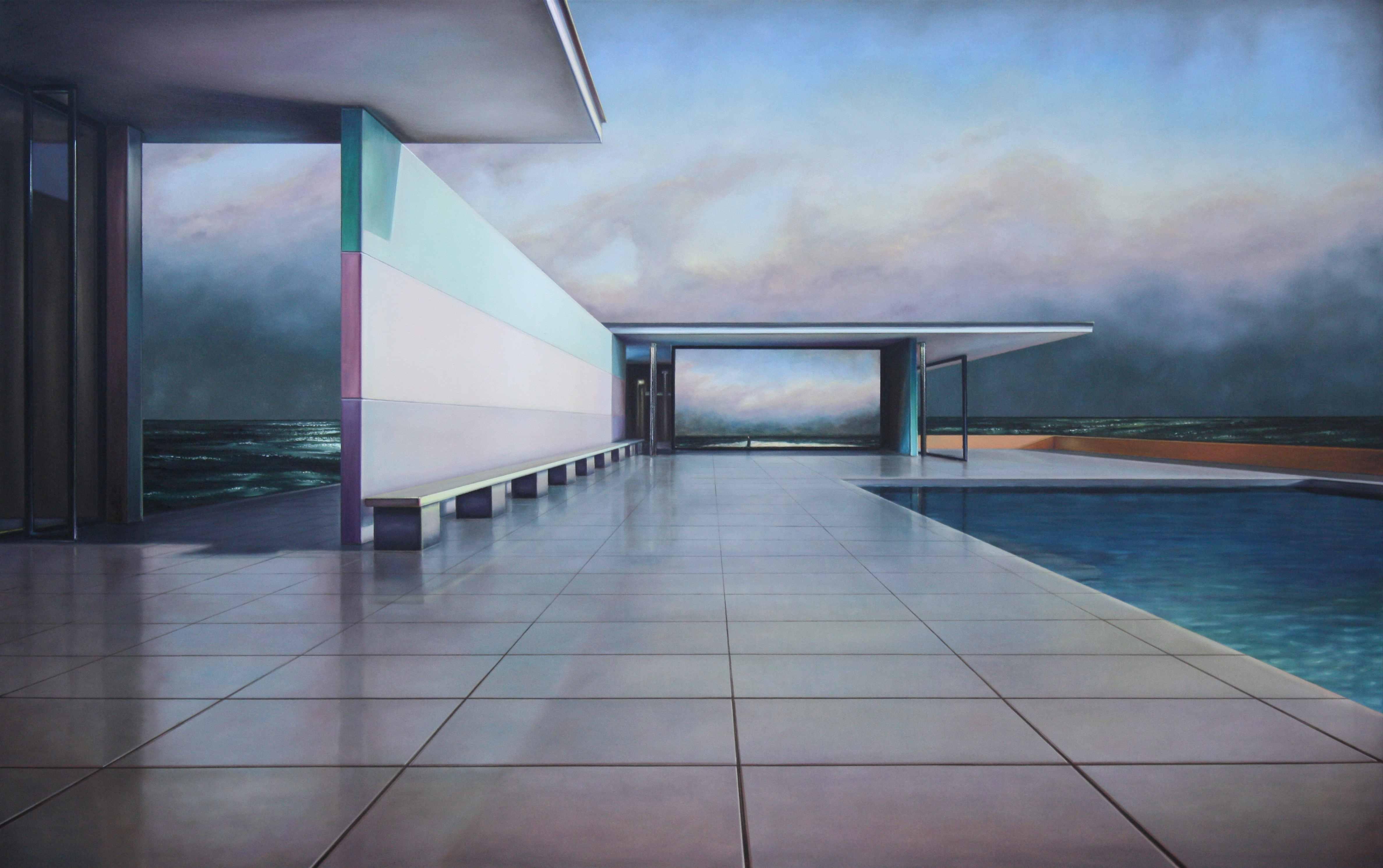 Pavillon (C.D.Friedrich), 2018, 120x190cm, Öl auf Leinwand, presented by Galerie Augarde