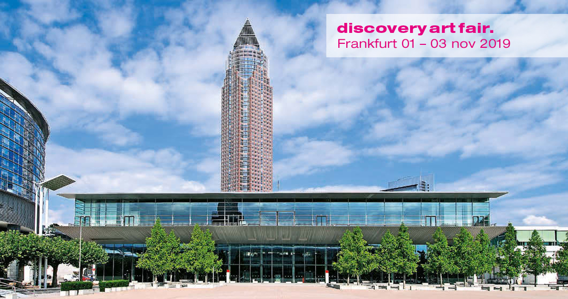 Messe Frankfurt and Messe tower, where the exhibition and trade show of Discovery Art Fair is being held in November 2019
