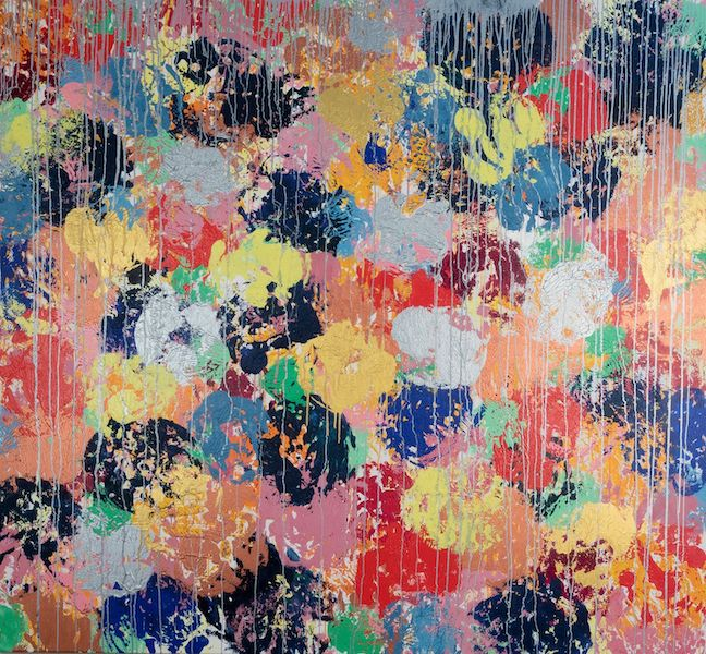 Brigitte Witzer - Augenweide Sommer, Monotypie auf Leinwand, Keilrahmen 10/2019 abstract art