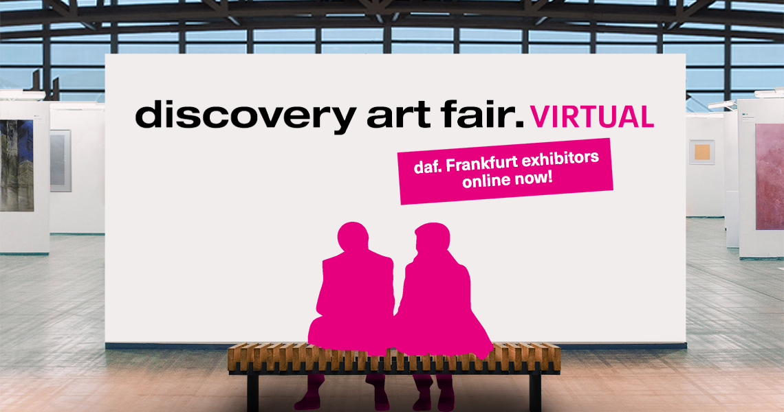 Galleries and artists show works from the fair program of the Frankfurt Art Fair within the innovative virtual art fair DAF.Virtual.