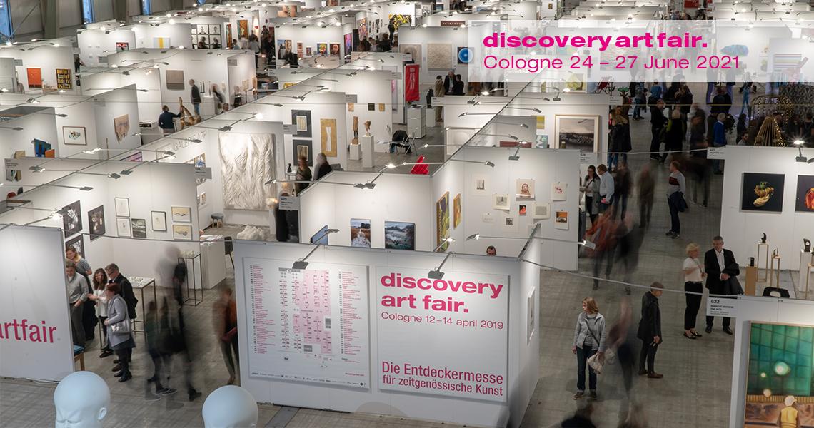 Kunstmesse Discovery Art Fair in Köln zeigt aufstrebende zeitgenössische Kunst von Galerien, Projekten und Einzelkünstlern.
