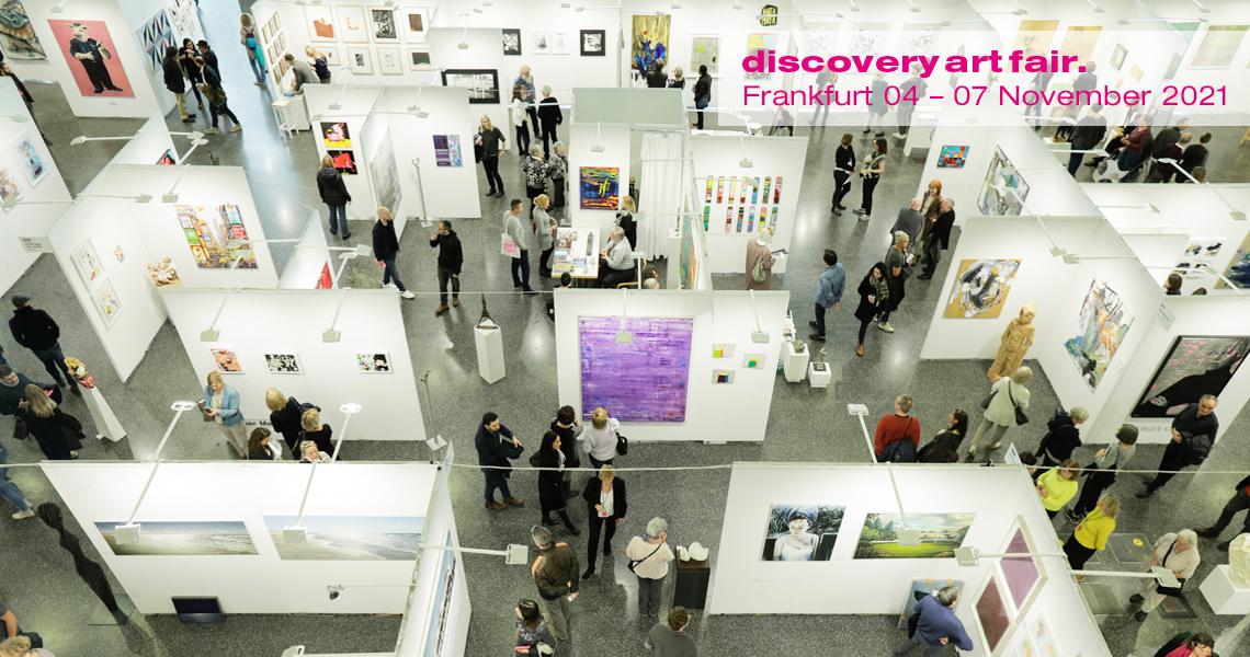 Als einzige Messe für zeitgenössische Kunst in der Rhein-Main-Region präsentiert die Discovery Art Fair nationale und internationale Galerien, Projekte und Künstler.
