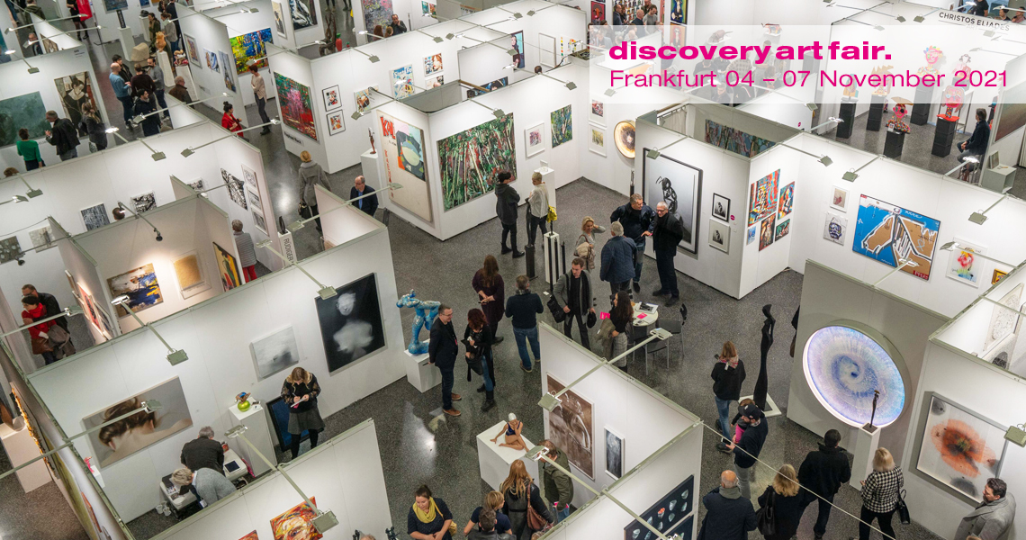 Every fall, art lovers can discover exceptional works of art by newcomers and established artists at the Discovery Art Fair on the grounds of Messe Frankfurt.