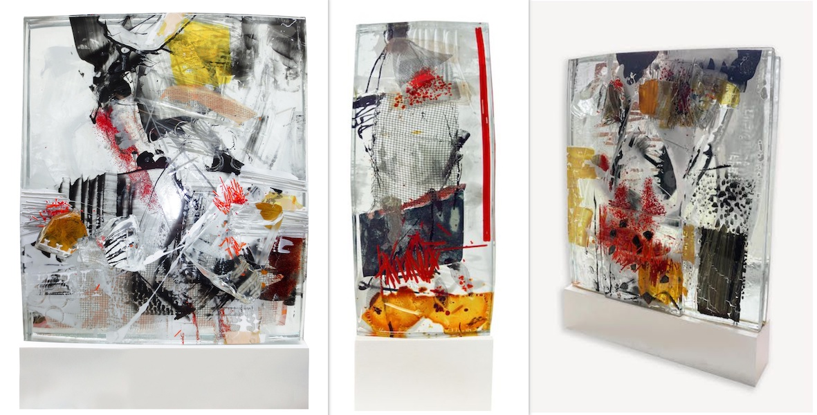 Georg Brandner glass sculpture objects