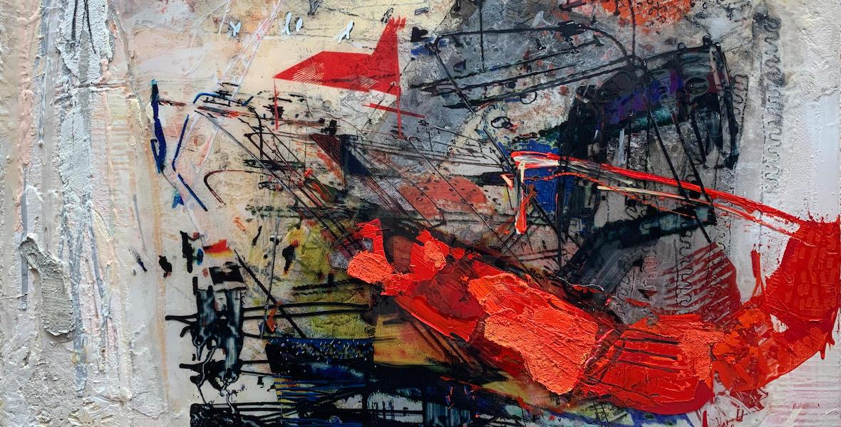 Georg Brandner painting in detail