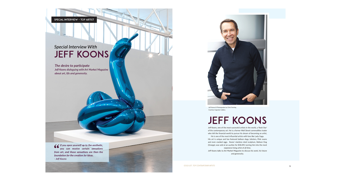 Jeff Koons - Special Interview page