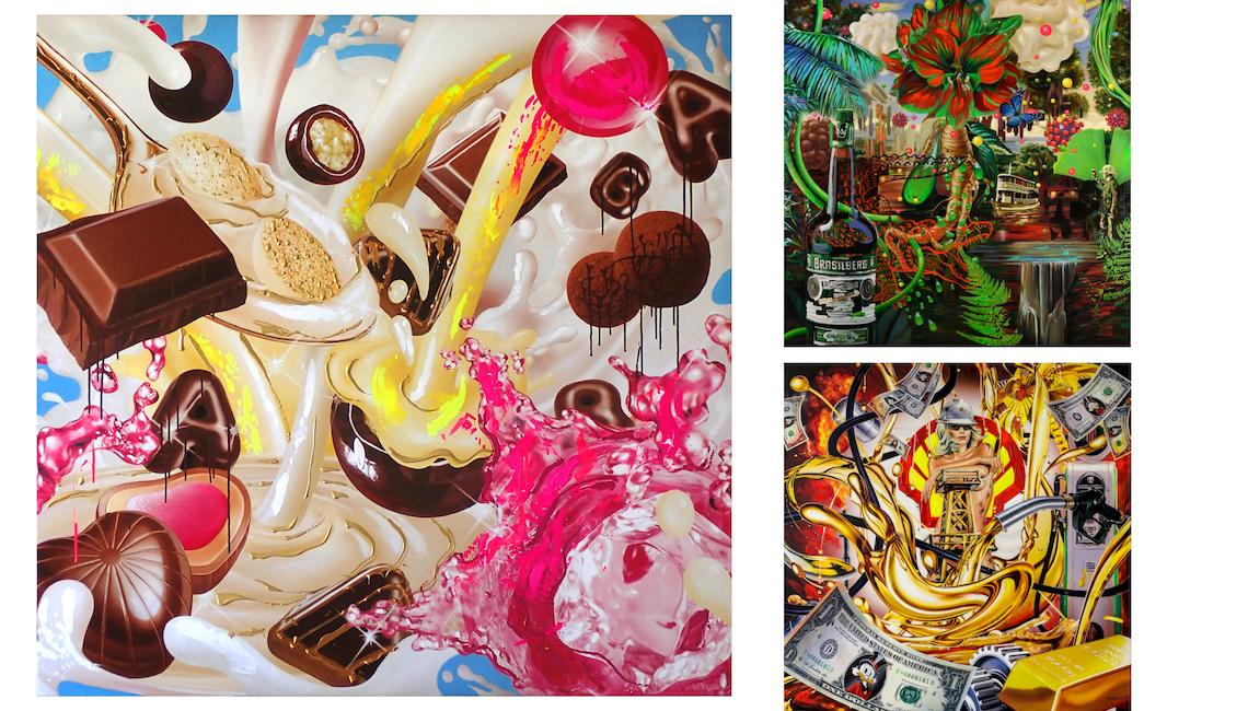 Jean-Pierre Kunkel advertising pop art paintings
